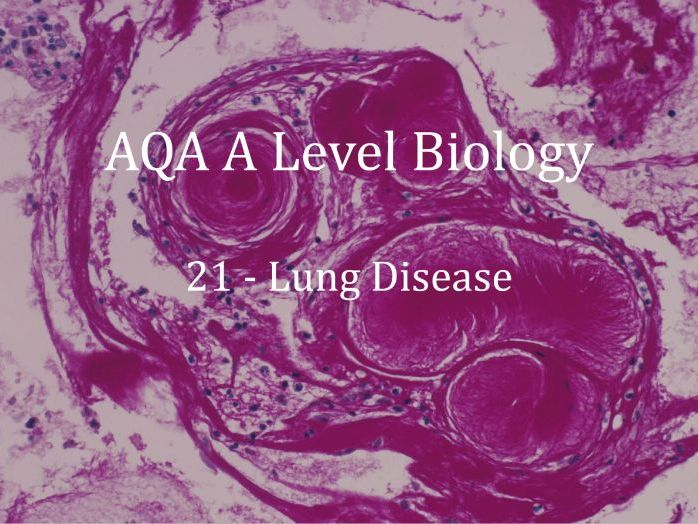 AQA A Level Biology Lecture 21 - Lung Disease