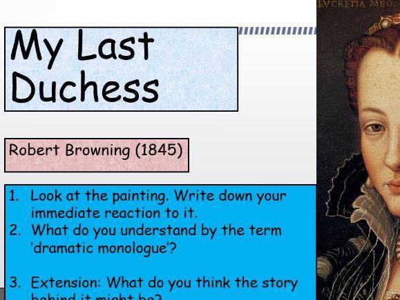 KS4 GCSE 'My Last Duchess' by Robert Browning