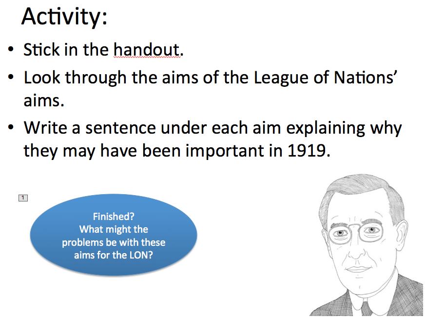 League of Nations - Lesson 1 the League's aims
