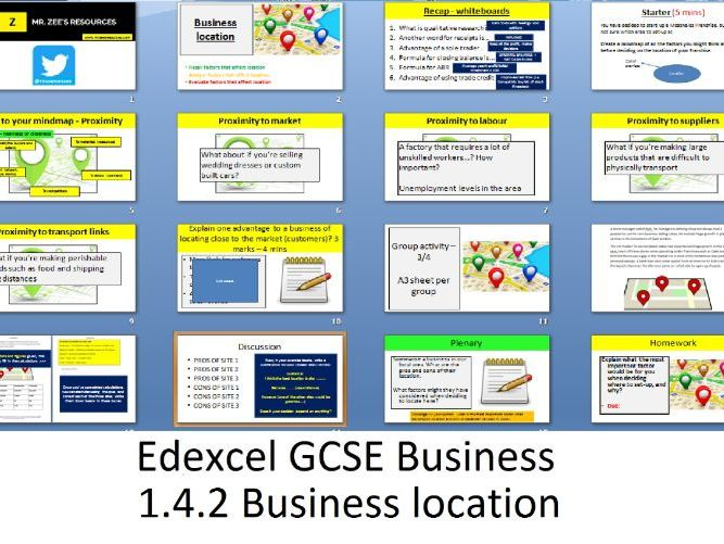 Edexcel GCSE Business - Theme 1 - 1.4.2 Business location