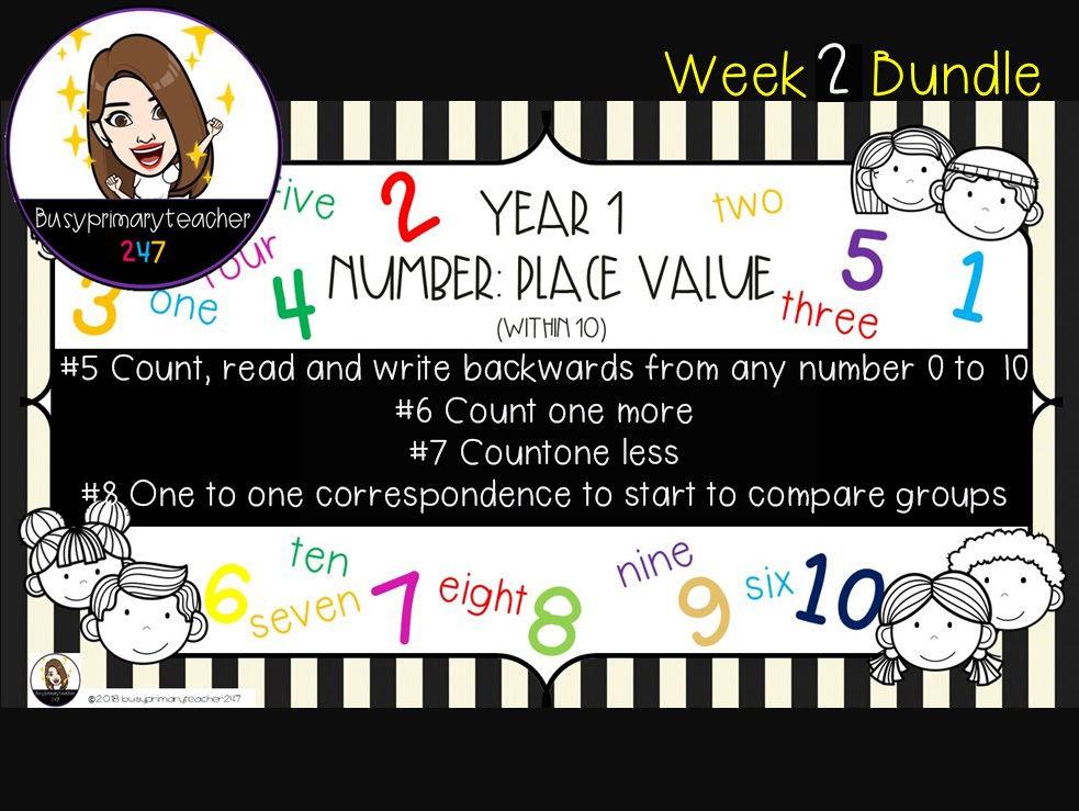 Year 1 Place Value 0-10 Bundle 2