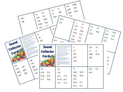 Sound Collector Cards 1 - Basic Sounds Sets 1-7   PhonicsforSEN