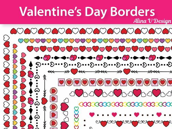 Valentine's Day Borders and Frames, Doodle Borders, Doodle Frames