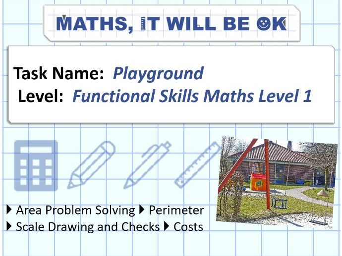 FS Maths Level 1 Scale - Playground - Exam Style
