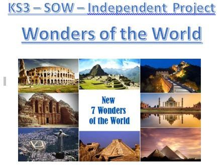 Wonders of the World - Geography - Independent Research Booklet - KS3