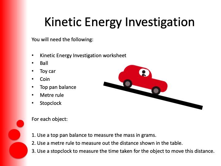 Kinetic Energy for GCSE Physics (9 – 1)