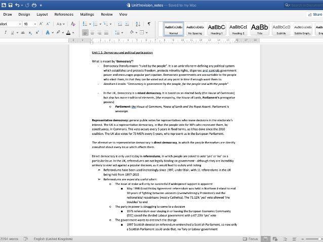 Edexcel Government & Politics AS-level: Unit 1 revision notes