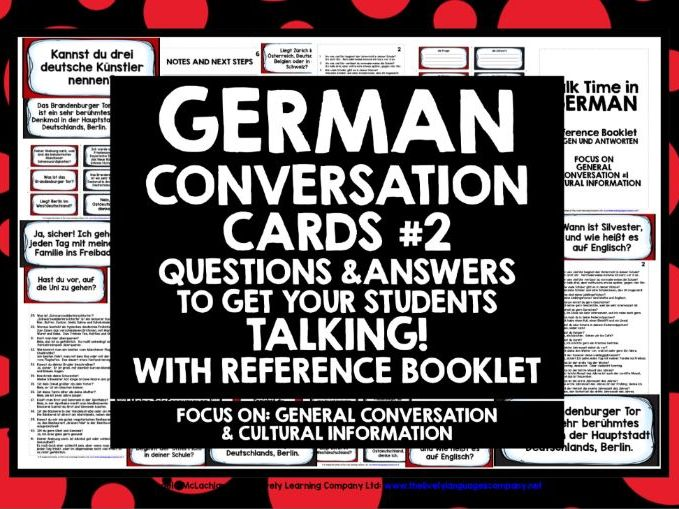 GERMAN CONVERSATION CARDS 2