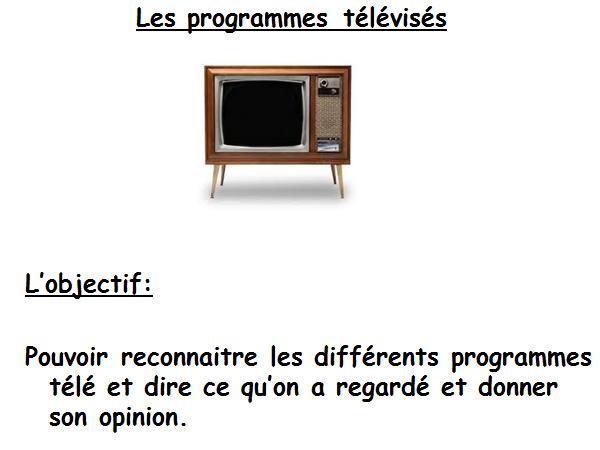Les programmes télé - Expo 2 rouge Unit 3 (1st lesson out of 2)
