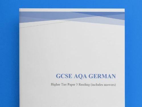 GCSE German Reading Foundation Tier (Revision/Practice Test)