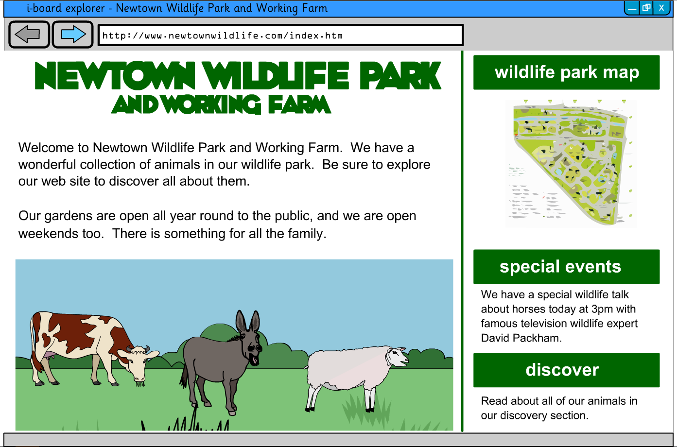 Interactive Information Website - Mammals and Birds - KS2 Literacy