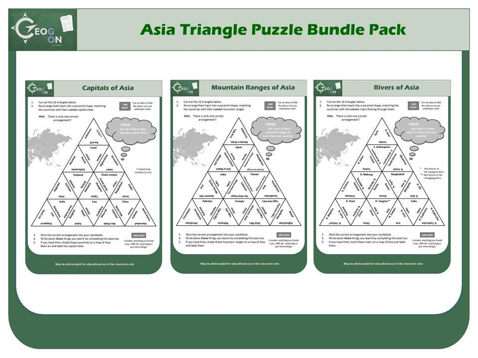 Asia Triangle Puzzle Bundle Pack