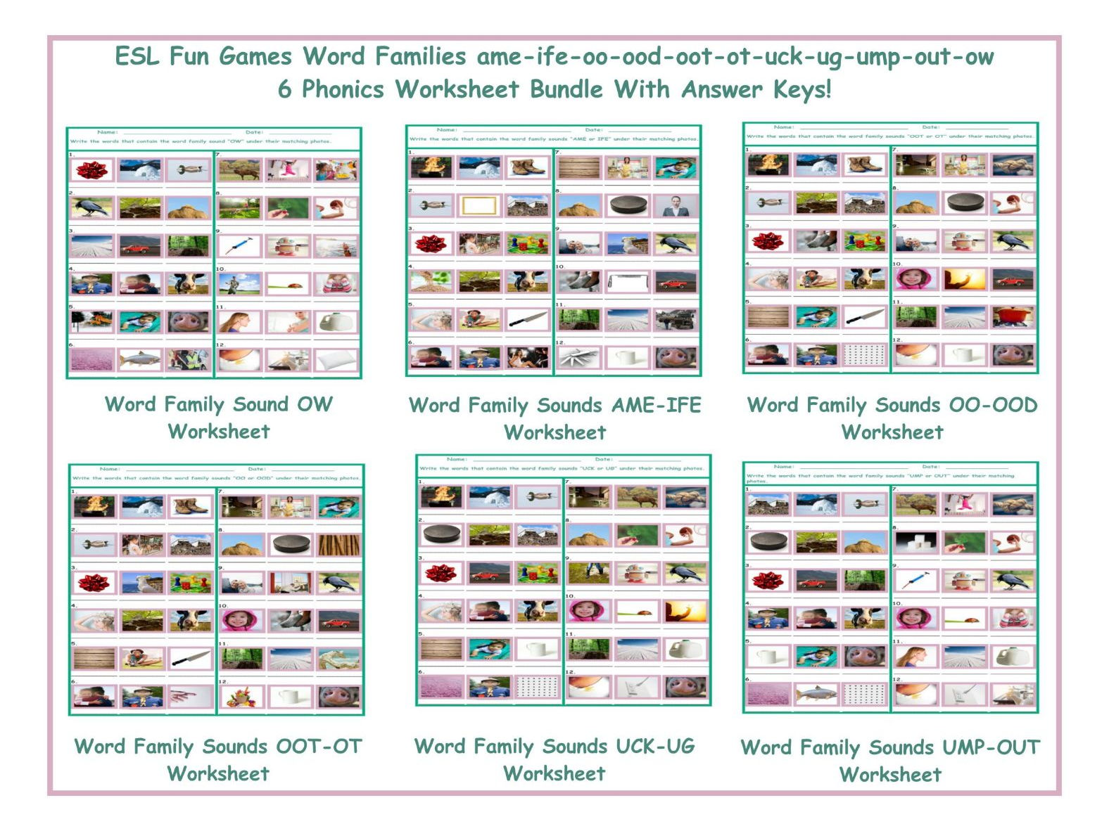 worksheet Ow Worksheets word family sound ow worksheet by eslfungames teaching resources tes