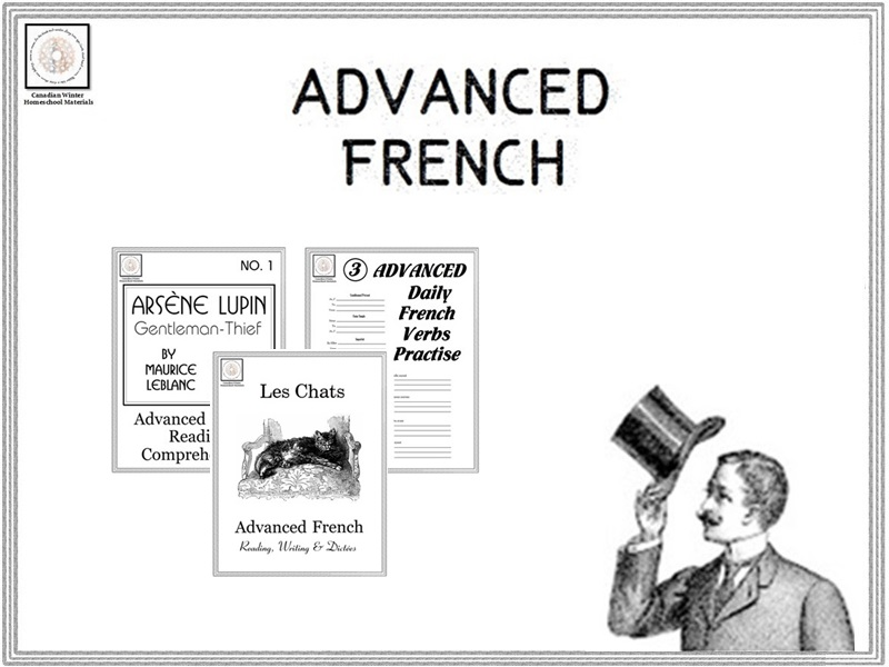 Advanced French Reading, Dictées & Verbs