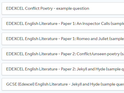 edexcel english literature paper an inspector calls sample  edexcel english literature paper 1 an inspector calls sample question by catadams teaching resources tes