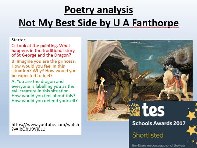 not my best side poem