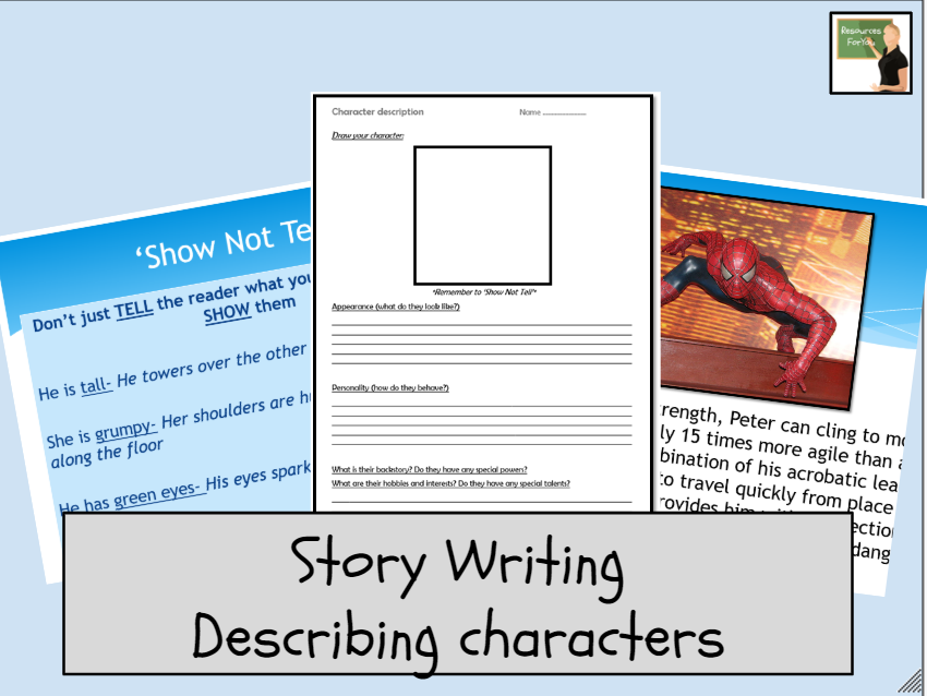 English- Story Writing- describing characters lesson