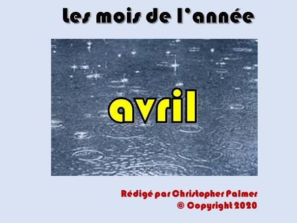 French: Months of the year, weather and the season spring - April (Key Stage 2)