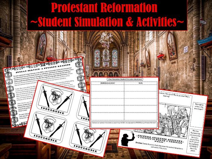 Protestant Reformation ~Student Simulation & Activities~