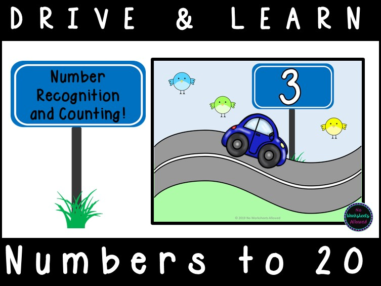 Counting and Number Recognition Cars Activity