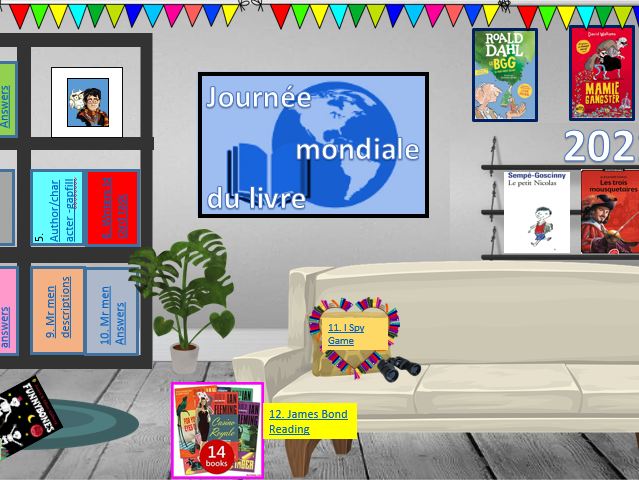 World Book Day French KS3 activities with a difference! Suitable for live lessons.