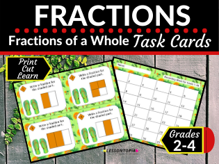 Identifying Fractions (Home Learning, Distance Learning)