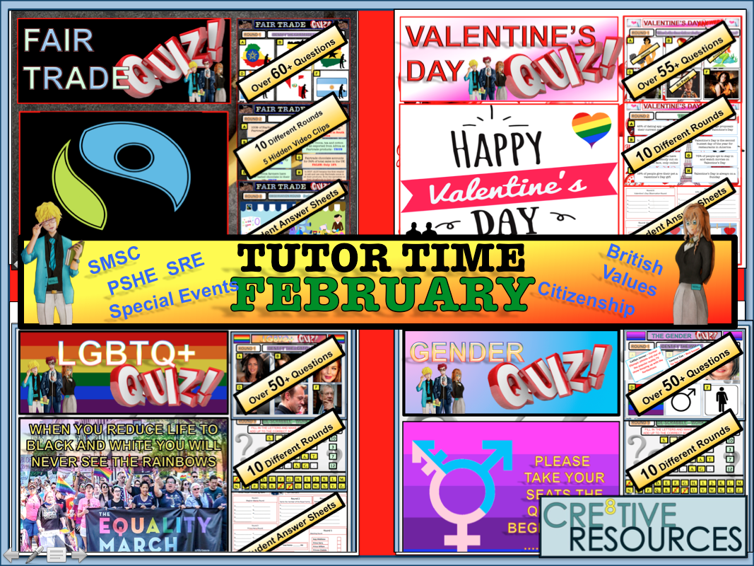 February Tutor Time Quiz Package 2019