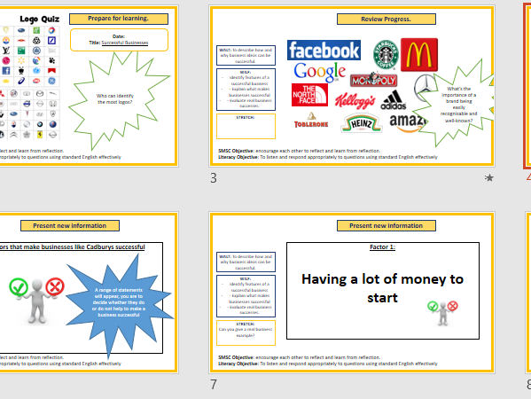 Successful Businesses Lesson - Introduction to Business Studies