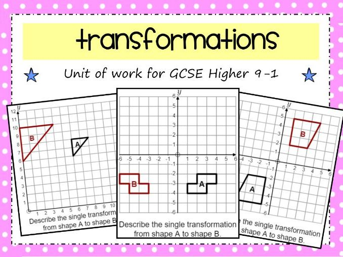 GCSE 9-1 Transformations Unit of Work