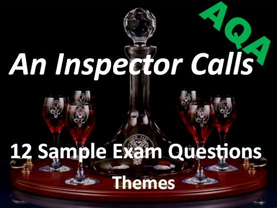 An Inspector Calls Exam Questions on Themes AQA