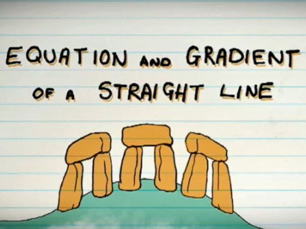 Gradient and equation of a straight line video