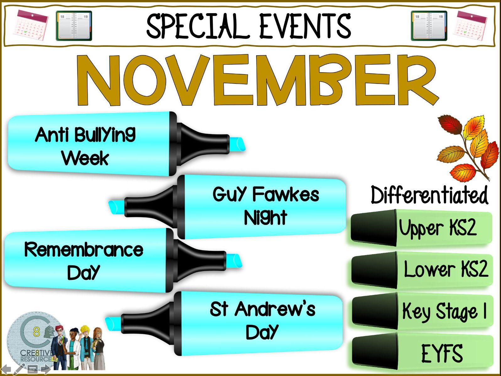 November Primary Special Days
