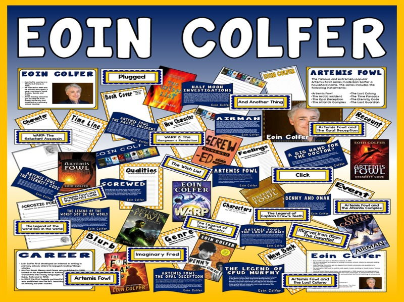 EOIN COLFER TEACHING AND DISPLAY RESOURCES ENGLISH READING KS2 AUTHOR ARTEMIS FOWL