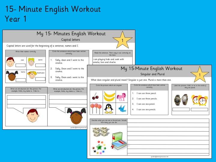 15 -Minute English Workout- Year 1