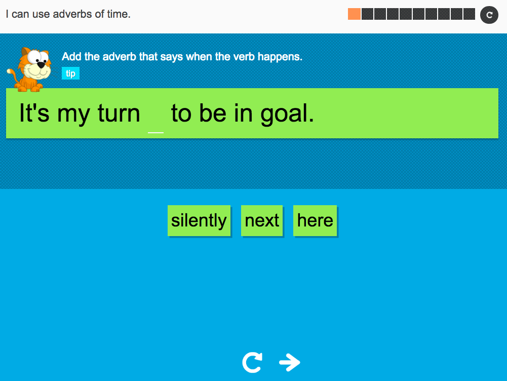 I can use adverbs of time - Interactive Activity - Year 3 Spag