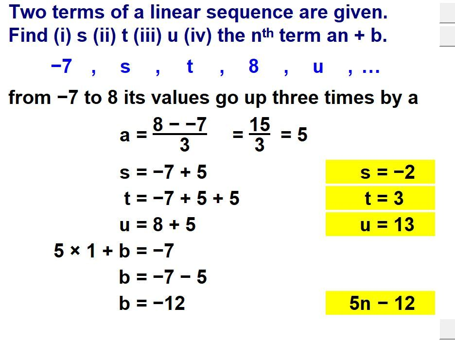 Solve Problems Using Sequences
