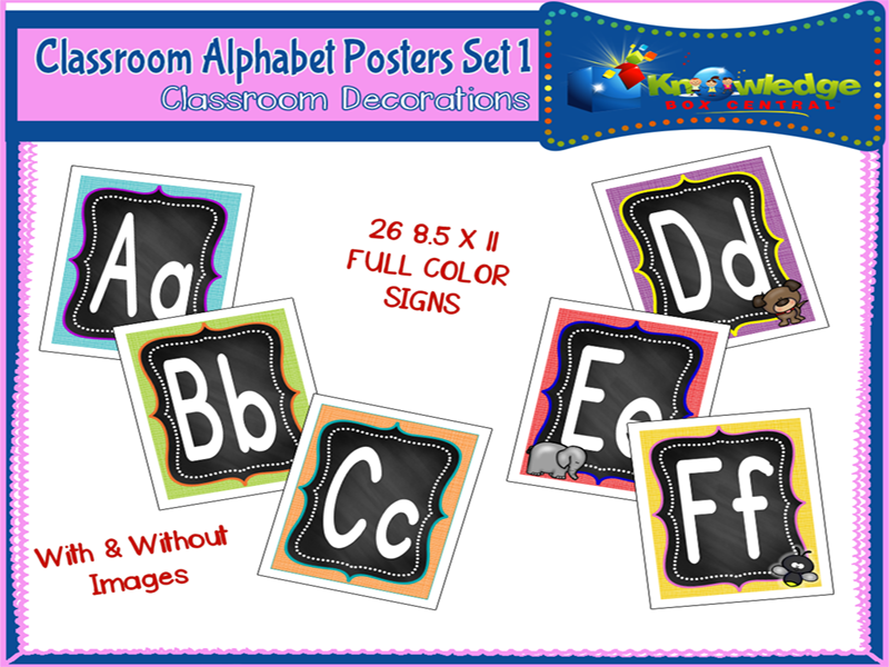 Alphabet Posters Set 1 - EBOOK
