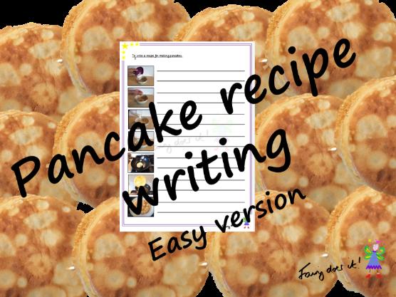 Writing a pancake recipe - easy version
