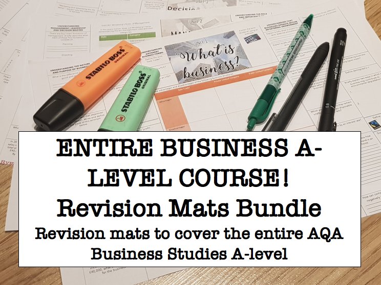 REVISION MATS A LEVEL BUSINESS STUDIES AQA