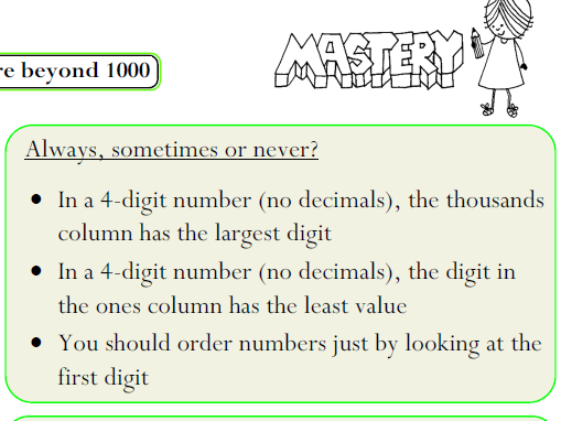 Mastery Maths - Number and Place Value KS2