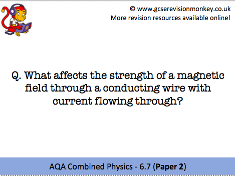 Revision Cards - AQA Combined Physics 6.7