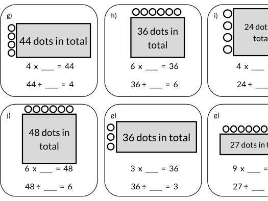 Division and Multiplication Worksheets
