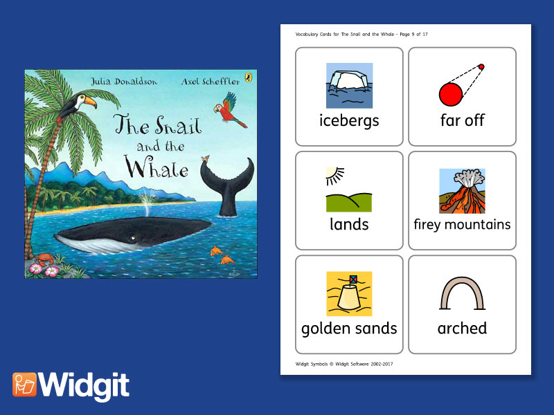 The Snail and the Whale - Big Book Flashcards with Widgit Symbols