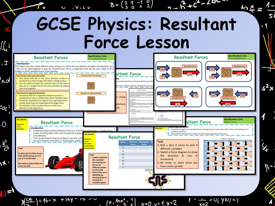 KS AQA GCSE Physics (Science) Resultant Force Lesson