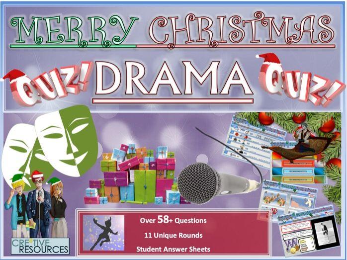 Drama Christmas Quiz