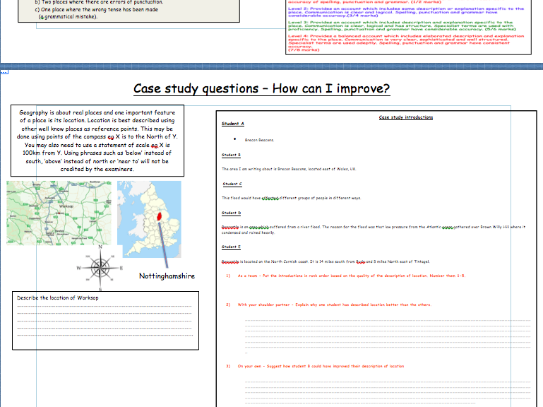 WJEC Case Study Answers Lesson