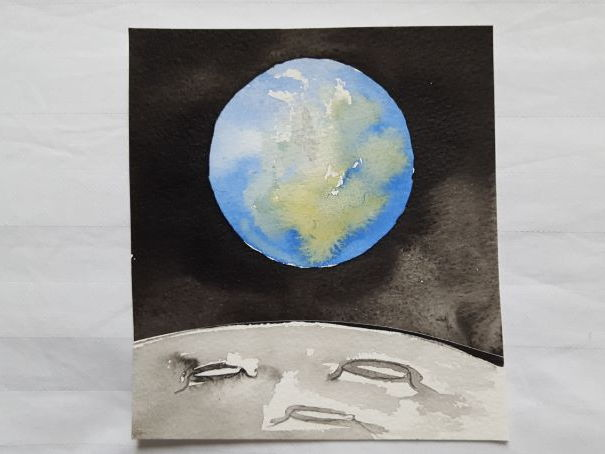 Paint a watercolour - the Earth from Space