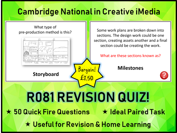 R081 iMedia Exam Revision Quiz (50 Questions)