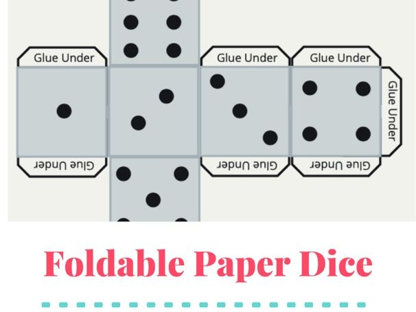 Foldable Paper Dice