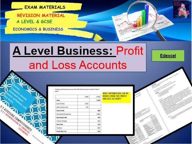 Profit and Loss Accounts: A Level Business